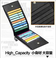 Man TMOOS -long bi-fold card card bank card holder wallet bag leather card holder men wallet card Pack one