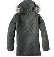 Jeanswest women's polyester fiber with a hood women's wadded jacket outerwear