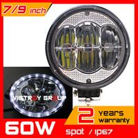 9inch 60W LED Work Light Tractor Truck 12v 24v SPOT Offroad Fog Drive light LED Worklight External Light seckill 55w 75w