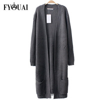 FYOUAI Long Style Women Knitwear New Arrivals Solid Winter Sweater Winter Sweaters Fashion Casual Cardigans Sweaters Women