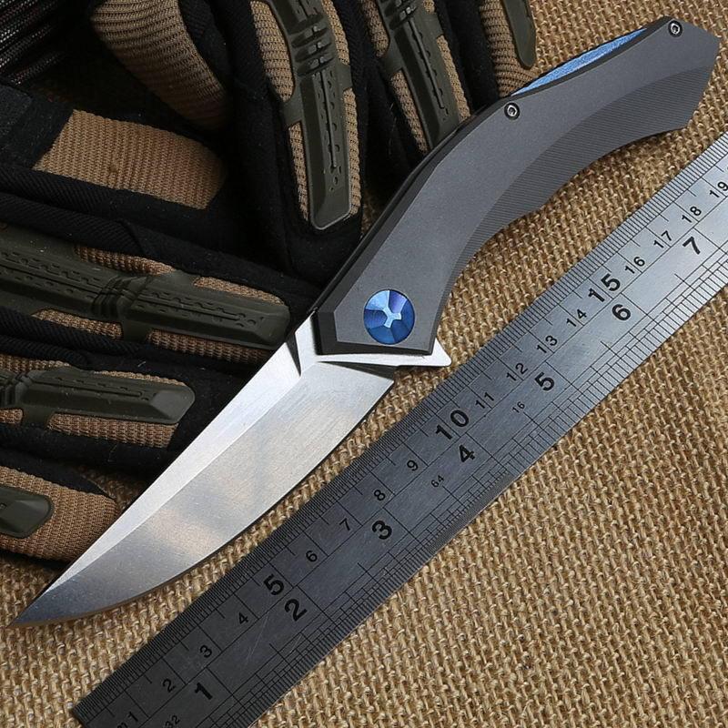 Shirogorov poluchetkiy Wild boar TC4 titanium D2 camp hunt outdoors survival Flipper tactical folding pocket knife bearing tools(China (Mainland))