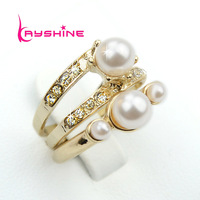 Luxury 2014 New Fashion Jewelry Imitation Pearl Vintage Couple Rings For Women Accessories