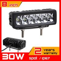 8inch 30W LED Work Light Tractor Truck 12v 24v SPOT Offroad Fog Drive light LED Worklight External Light seckill 55w 75w