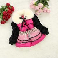 4pc/lot kids coats fur baby clothing girls outerwear christmaschildren jackets winter factory wholesale panya 231