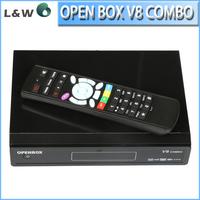 2pcs/ lot Openbox V8 Combo HD Satellite Receiver  With  DVB-S2 +DVB-T2 Tuner  openbox v8 combo Free Shipping