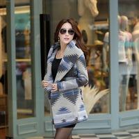 2014 Women Autumn And Winter Woolen Coat, Elegant Slim Overcoat, Lady Fashion Woollen Outerwear, Brand Women Thick Overcoat