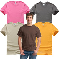 [LINK 2] New 180g Male O-Neck Short-Sleeved Cotton Top Quality T-Shirt Active Tees Men's Basic Plus Size Tops 25 Colors XS-XXL