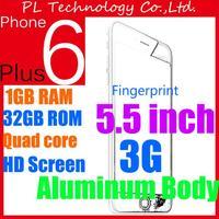 Original Goophone i6+ phone i6 plus mtk6582 Quad core 5.5 inch show 1920*1080 screen 3G GPS alu 8.0 Metal body 4G phone 6 phone