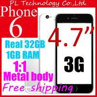 new arrival i6 Original I6 phone MTK6582 Quad Core Metal Body Mobile Phones 4.7inch IPS 1366*640 Screen 1GB RAM 8GB ROM 8MP 6S