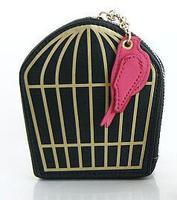 AB955 Fashion Genuine leather Cage bird birdcage bag Women coin Pouch Organizer Storage Bag with gift box designer high quality