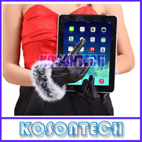 FREE SHIPPING 2014 New Style Touch Screen Genuine Leather Fur Warm Gloves Stylish Nano Tech Leather Gloves Designer Glove SD26