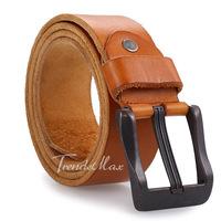 39mm Mens Boys 5 Colors Top Grain Genuine Leather Cowhide Waist BELT Single Prong Metal Buckle Business Casual Dress Gift UTM74