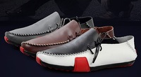 New fashion men's shoes,Car suture leather shoes,Men Shoes Loafers  Men's Sneakers Casual Driving Shoes Mocassins