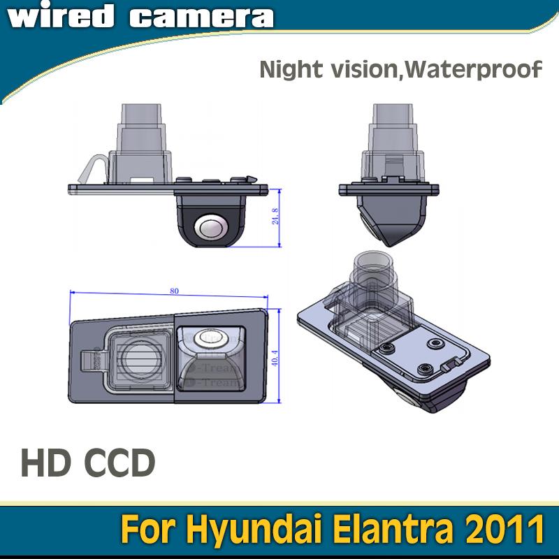 wired HD CCD car parking camera for Hyundai 2011 Elantra camera night vision waterproof auto reversing(China (Mainland))