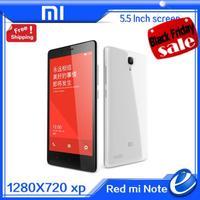 """Original Android 4.4 Xiaomi Redmi Note 4G LTE Mobile Phone Red Rice Note Qualcomm Quad Core 5.5"""" 1280x720 2GB RAM 8GB ROM 13MP"""