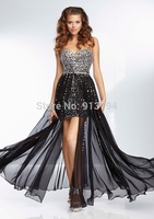 Sexy 2014 Brand New Sweetheart Black Cocktail Dresses Chiffon Party Dress MLP-77