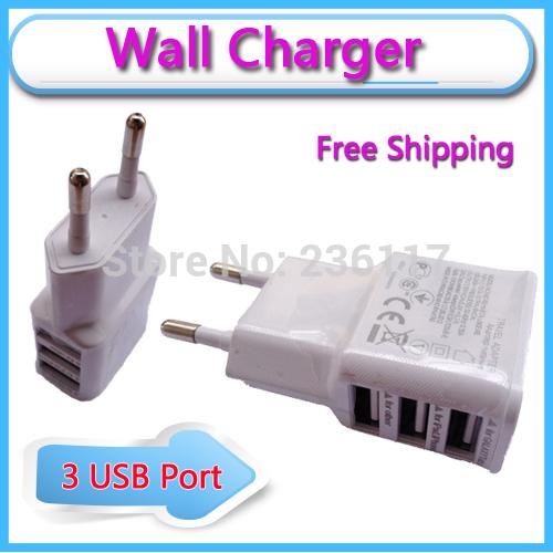 Зарядное устройство для мобильных телефонов Wall Charger 2A 3 USB iPhone4S 5 5S 6 Samsung 2 4 N7100 S3 S4 S5 I9500 Cargador Power Adapter автомобильное зарядное устройство tronsmart c3pta 2x2 4a 2a qc3 0 usb черный
