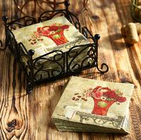 [4 packs]100% virgin wood pulp eco-friendly creative printed paper napkins printed wedding napkin paper serviette -4NC466EC