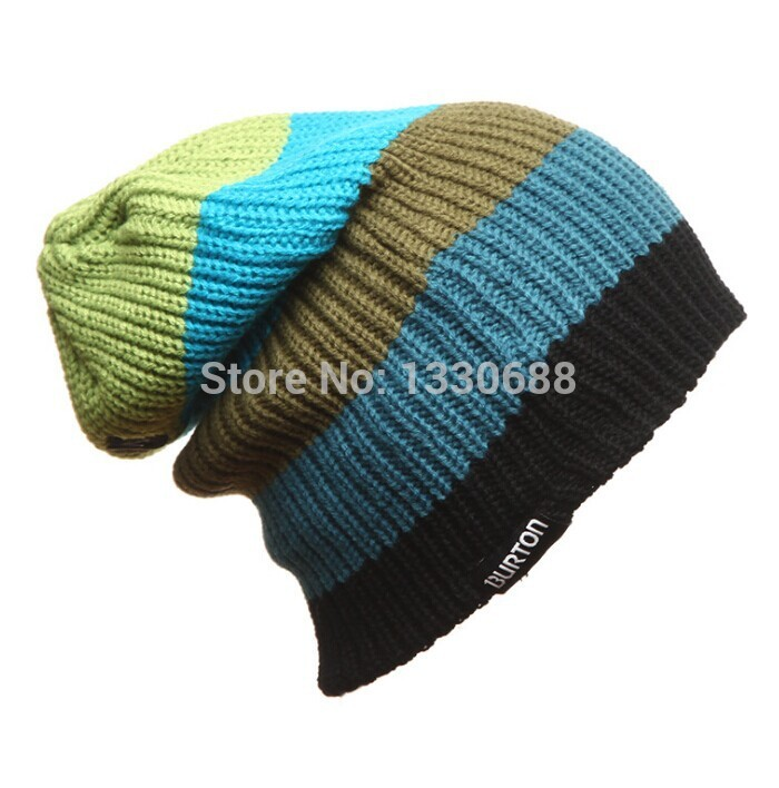 4 color BURTON Winte Cap Hat Outdoor Skiing Men Women Casual Caps Hats single board skating and skiing knitted hat(China (Mainland))