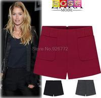 2015 New Fashion Brands Autumn And Winter Women Casual Woolen Shorts Pocket Plus Size Boots Pants Female XXXL