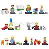 The Simpsons Minifigures 8pcs/lot Building Blocks Sets Model Figures Classic Toys Bricks SY256