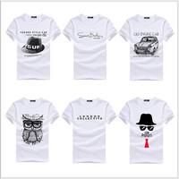 Free Shipping! 2014 new Men's round neck short sleeve T-shirt personalized customization printing camisetas cotton T shirt