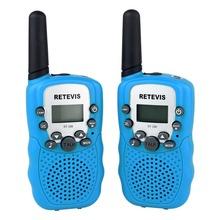 2PCS Sky Blue Walkie Talkie Retevis RT-388 UHF 462.5625-467.7250MHz 0.5W 22CH For Kid LCD Display Flashlight Radio A7027G Eshow