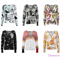 New 2014 Autumn Winter Knitwear Cardigans Women's Sweater Blazer Porcelain Printed Long-sleeve Knitted Sweaters k5347/kd4287...
