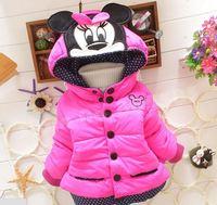 retail baby girls coats thicken winter mickey kids outerwear fleece children jackets clothes panya R40