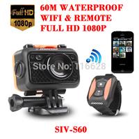 SIV original S60 better than sj4000 full hd 1080p 170degree view angle three proofings wifi remote control gopro sport camera