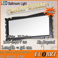 LED Bathroom Light 14W LED 2835 SMD White Crystal Mirror Front Light Lamp Bath Wall Sconces Stainless Steel 110V / 220V AC