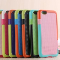 Hottest Sale TPU PC Polka Dot Stripe Case Covers For iPhone 6 Protective Cases Cellphone Covers Free Shipping