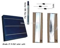 Hot* DIY solar panel kit 60- Grade A 6x6 solar cell +tab bus +flux pen +diodes, free shipping