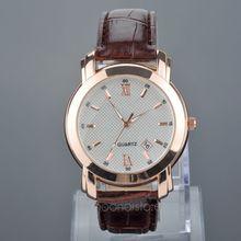 Hot Big Face Luxury Style man s Watch Quartz Wrist Watch With PU leather Strap Analog