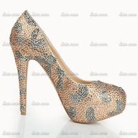 2015 summer new drilling high-heeled shoes fine with simple OL nightclub Low Rhinestone shoes single Handmade Diamond shoes