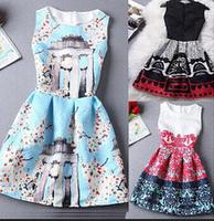2015 women Fashion Vintage vestidos femininos Summer Dress Flower Print Casual Dresses Short Party Brand Dress vestido de festa