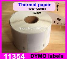 12X Rolls etiquette DYMO SEIKO COMPATIBLE LABELS,57mm x 32mm,1000 Seiko Labels Per Roll, Multi Purpose 11354