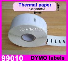 100 rolls X Dymo 99010, 28mm*89mm*350 labels per roll, Free Shipment By Express Door to Door