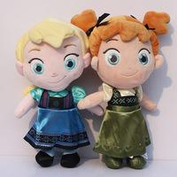 32CM childhood Plush Toddler Elsa Anna baby plush Soft Toy princess Brinquedos Kids Dolls for Girls toys Free Shipping