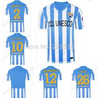 Free Shipping Malaga Soccer Jerseys football shirt 14/1 5Season 3A+++ Best thai quality Malaga FC Customize Jerseys shirt