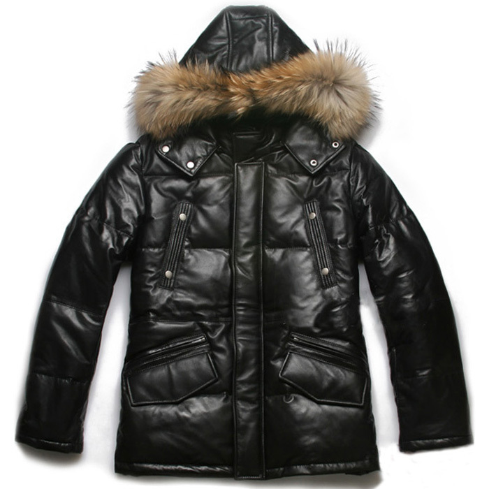 Black Bubble Coat Bubble Jacket Men's Black