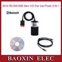 Newest  VCI 2014 02 R2 Car diagnostic tool CDP Pro Plus De1phi DS150E with Bluetooth OBD2 Scanner for Autocom+keygen Scanner