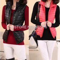 2014 Vests Outwear Coats Women Winter Vest Fashion Cotton Coats for Women Waistcoat Plus Size Free Shipping