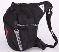 Black Drop Leg Motorcycle Cycling Fanny Pack Waist Belt Bag