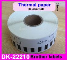 100X Rolls Brother DK210 Compatible Labels 29mm x 30.48m DK Continuous Paper Labels dK-22210 DK22210 DK-2210 Thermal paper