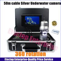 50m cable NO DVR Sony 700TVL Underwater Fishing Fish finder Camera,360 rotation, IP68 7''TFT,Power supply,OSD,freeshipping