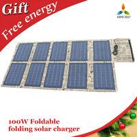 100w folding solar panel charger waterproof fabric