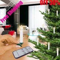 Free shipping 10 pcs remote control Christmas tree LED candle/Xmas's Decorations/Wedding Candle/Christmas decoration