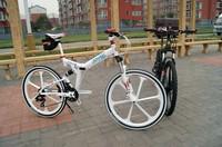 26 inch Mountain bike bicycle 24 speed folding one piece wheel mountain bike  bicycle ride