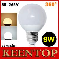 1Pcs Ultra Brightness 100% 360 Degree 9W LED Ball Bulb SMD5730 E27 85V 110V 220V High Quality LED Lamp Chandelier Spotlight R70
